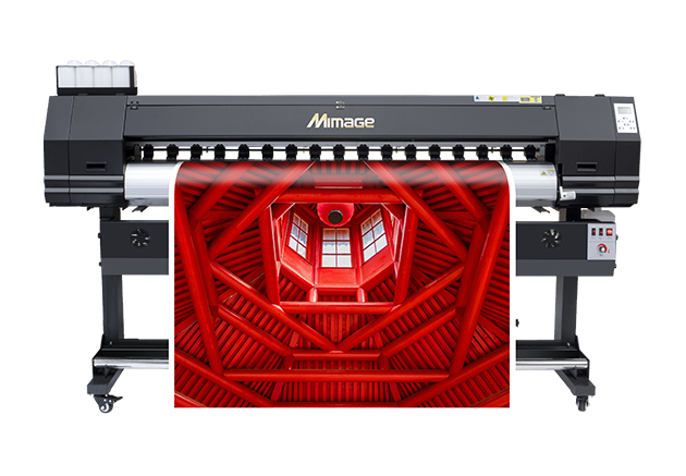 Mimage 6ft 1.8m M18S High Quality/Speed Eco Solvent Printer with 2 pcs DX5